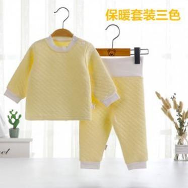 婴儿肩开扣保暖衣 秋冬内衣 新生儿加厚套装保暖 肩开扣保暖衣